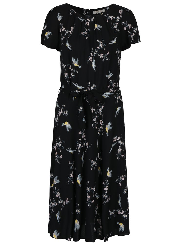 Černé vzorované šaty Billie & Blossom