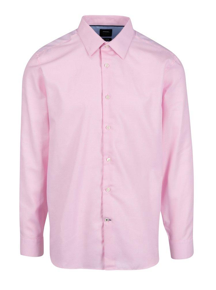 d5e92abe1e21 ... Ružová formálna tailored fit košeľa s jemným vzorom Burton Menswear  London