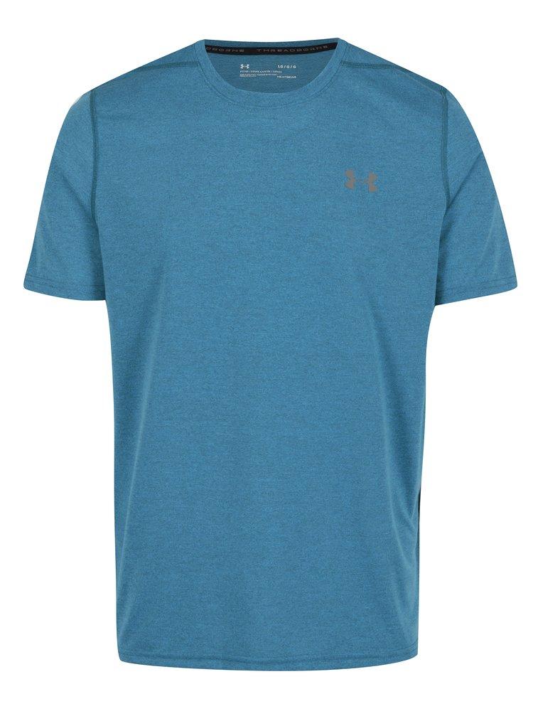 Modré pánske funkčné tričko Under Armour Threadborne Fitted