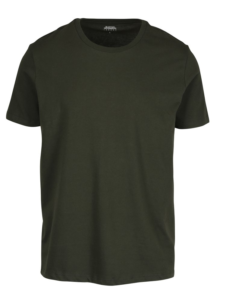 Tricou regular fit basic verde inchis  - Burton Menswear London
