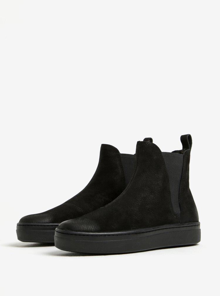 469667f732f3 ... Čierne dámske chelsea topánky z brúsenej kože na platforme Vagabond  Camille