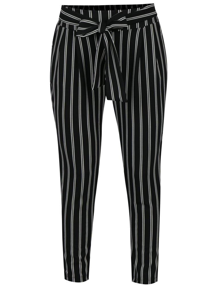 Pantaloni negru&alb cu dungi Haily's Emilia