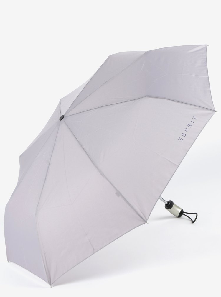 Světle šedý skládací vystřelovací deštník Esprit
