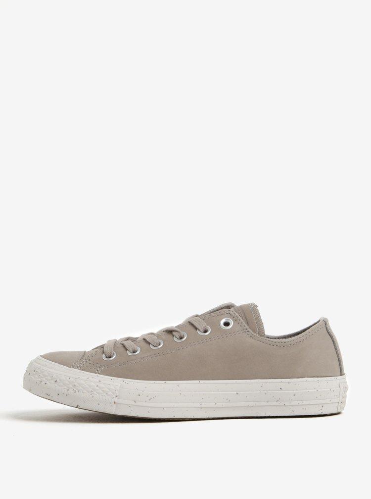 Pantofi sport gri deschis din piele pentru femei Converse Chuck Taylor All Star
