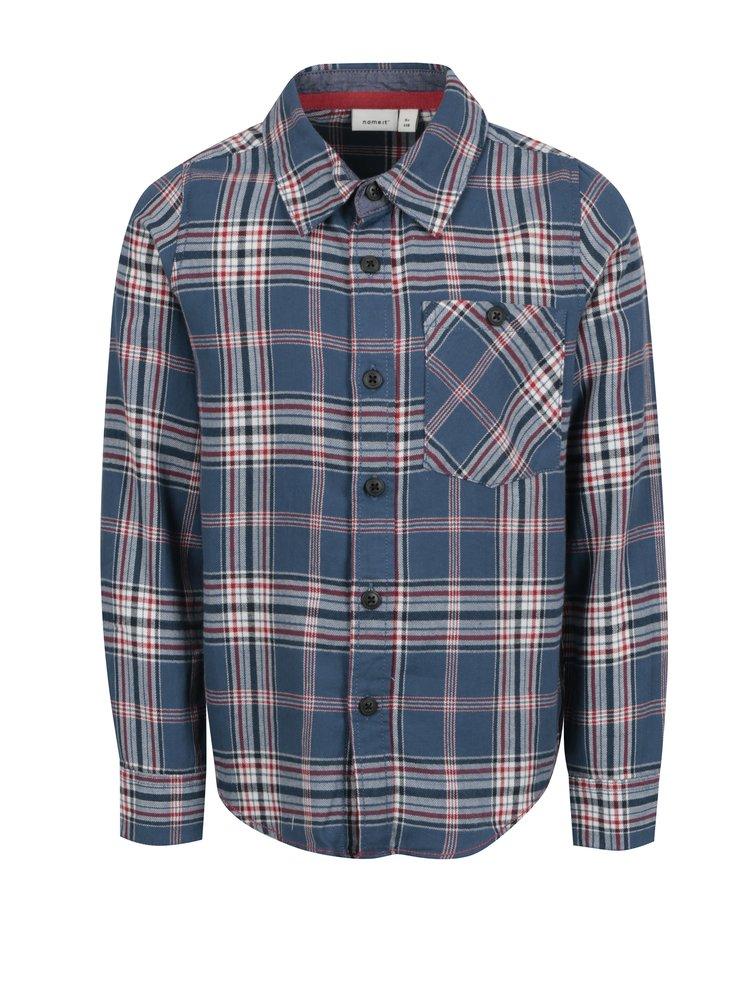 Modrá klučičí vzorovaná košile Name it Kohno