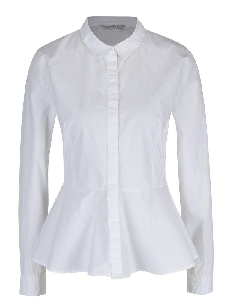 Bílá košile s volánem ONLY Poppi