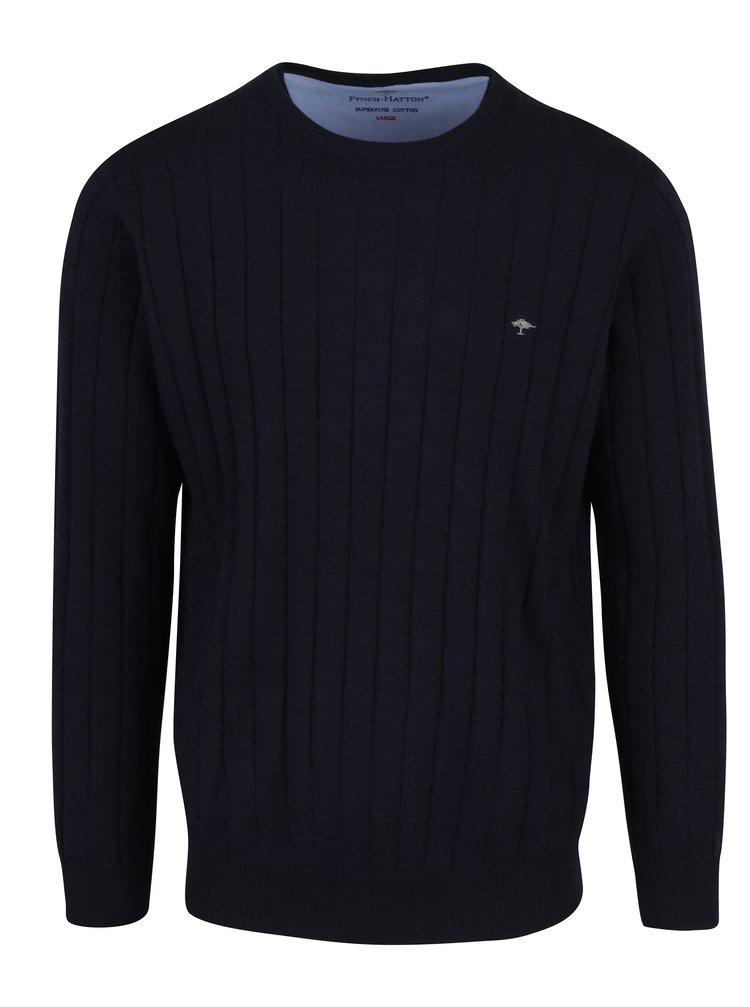 Tmavě modrý vzorovaný svetr Fynch-Hatton
