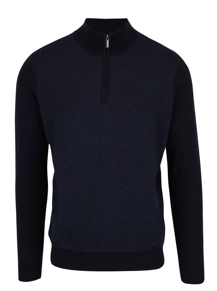 Pulover gri inchis cu amestec de lana merino - Frynch-Hatton