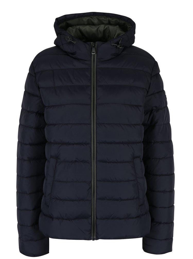 Tmavě modrá dámská prošívaná bunda s kapucí QS by s.Oliver