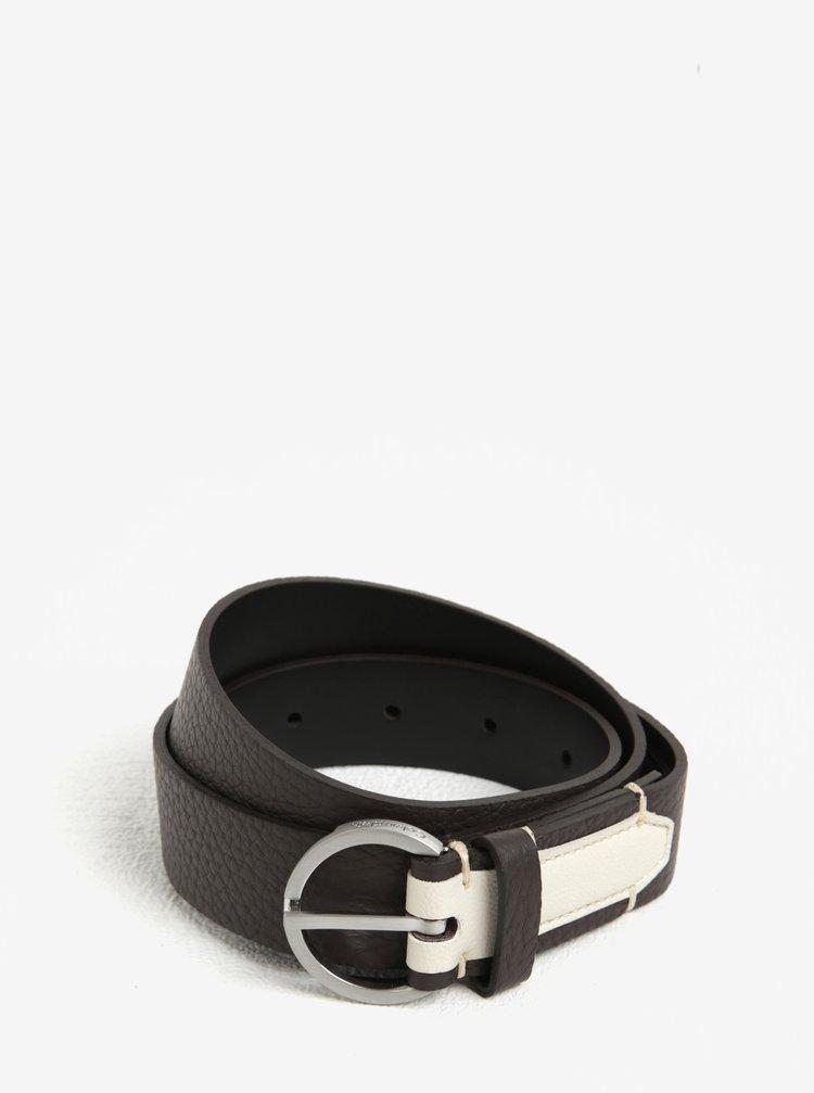 Tmavě hnědý dámský kožený pásek Calvin Klein Jeans Lizzy