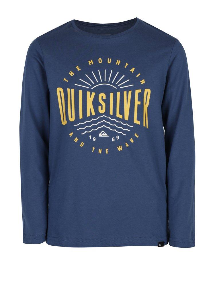 Tmavě modré klučičí regular fit tričko s potiskem Quiksilver