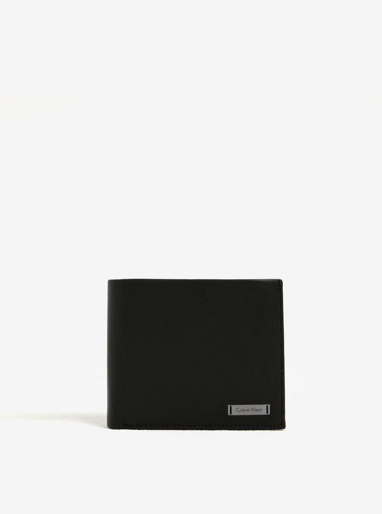 Černá pánská kožená peněženka v dárkové krabičce Calvin Klein Jeans Andrew