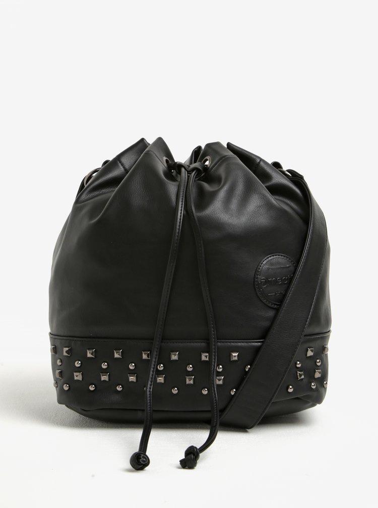Černá vaková kabelka s cvočky Meatfly Orphan
