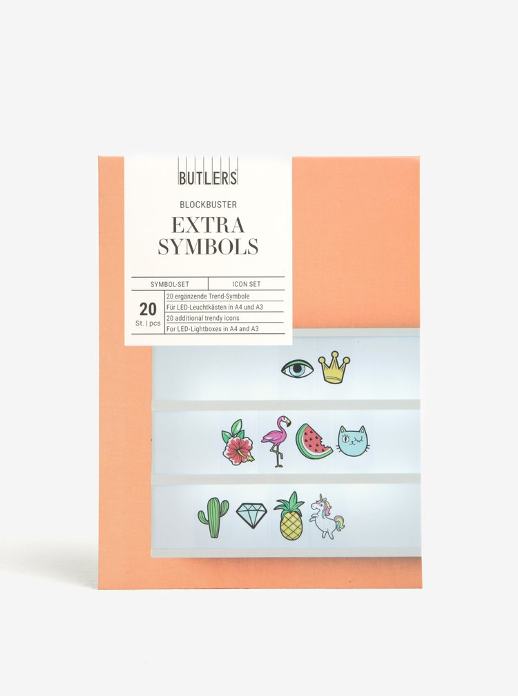 """Symboly pro světelný box """"Dovolená"""" BUTLERS"""
