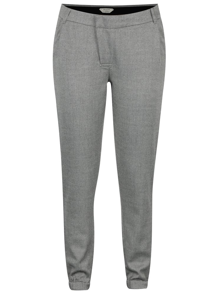 Pantaloni gri cu model chevron  Skunkfunk