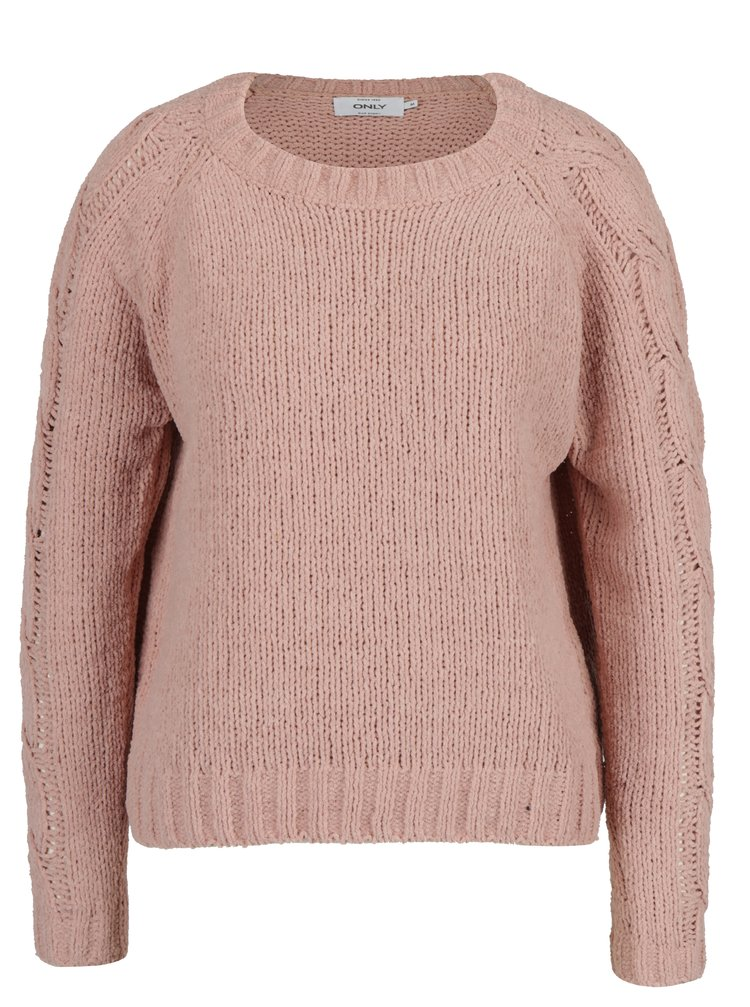 Staroružový sveter ONLY Ivy