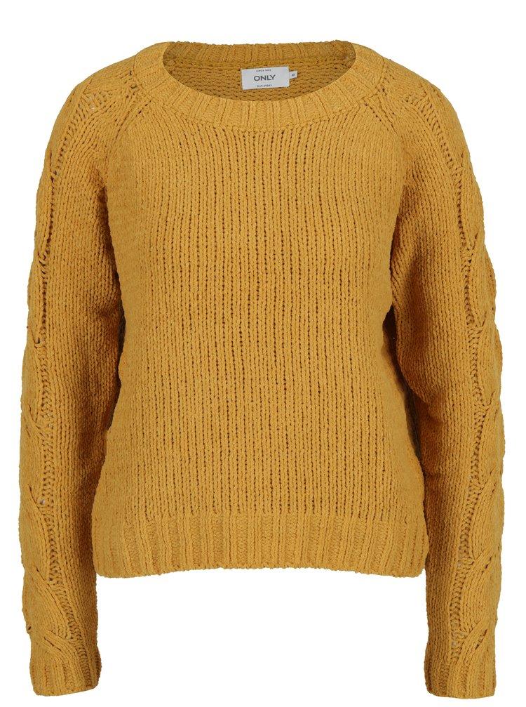 Horčicový sveter ONLY Ivy