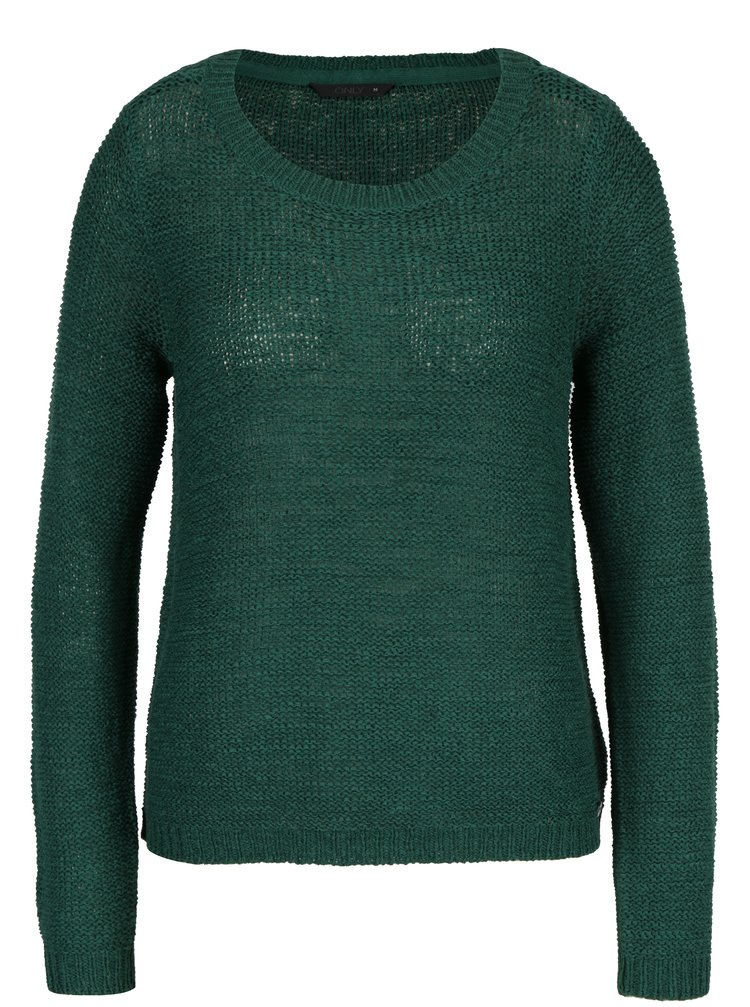 Tmavozelený pletený sveter ONLY Geena