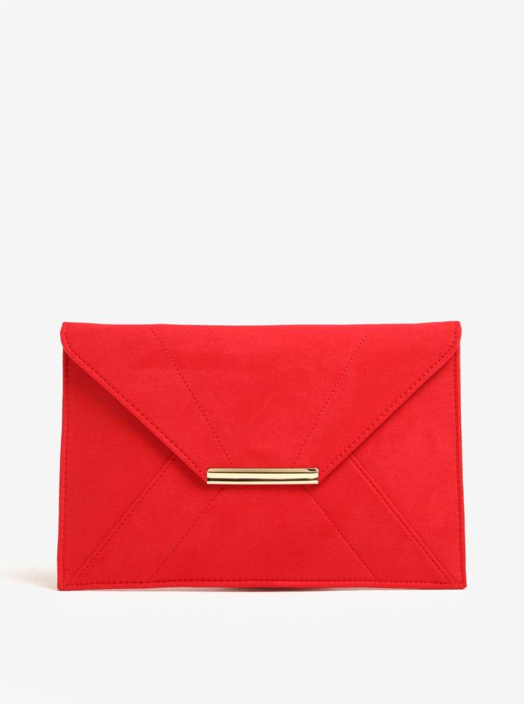 Geanta plic rosie cu detalii aurii - Dorothy Perkins