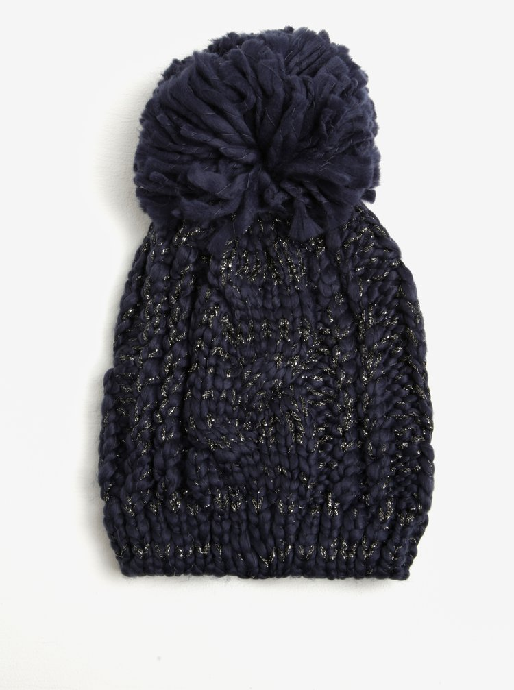 Tmavě modrá zimní čepice Dorothy Perkins