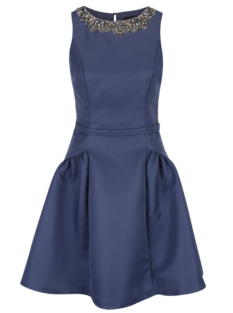 Modré šaty bez rukávů Little Mistress