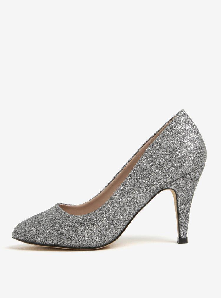 Pantofi argintii cu sclipici Dorothy Perkins