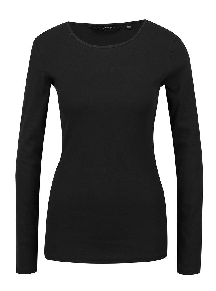 Bluza neagra cu decolteu rotund Dorothy Perkins