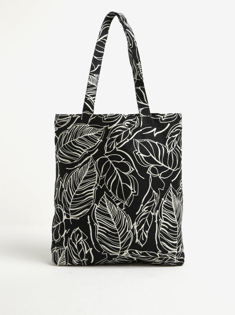Černá vzorovaná plátěná taška Dorothy Perkins