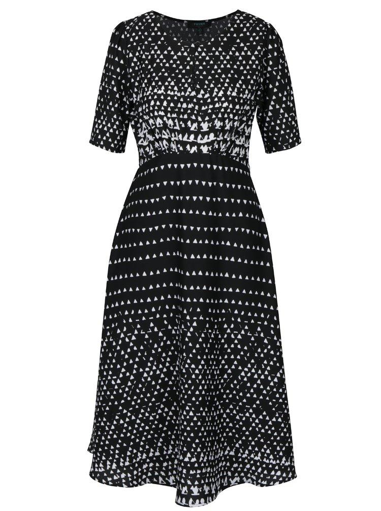 Černé vzorované šaty Fever London Minola