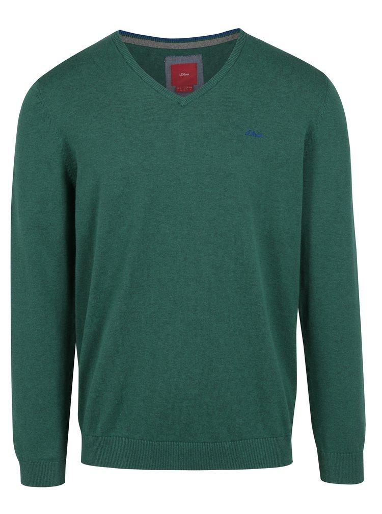 Pulover verde cu decolteu anchior pentru barbati  s.Oliver