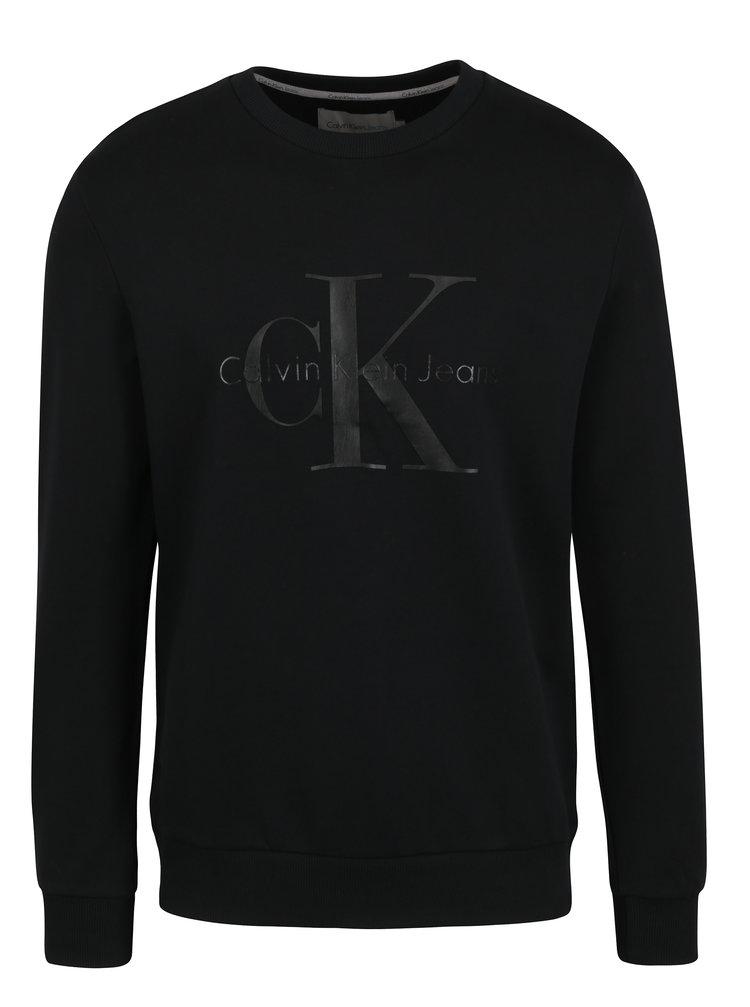 Černá pánská mikina s potiskem Calvin Klein Jeans Haws