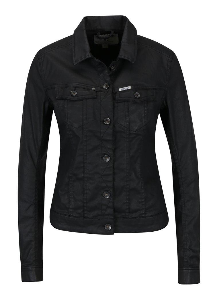 Černá dámská koženková bunda Garcia Jeans  Sofia