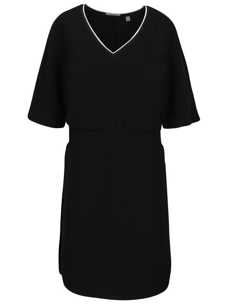 Černé volné šaty s véčkovým výstřihem Scotch & Soda