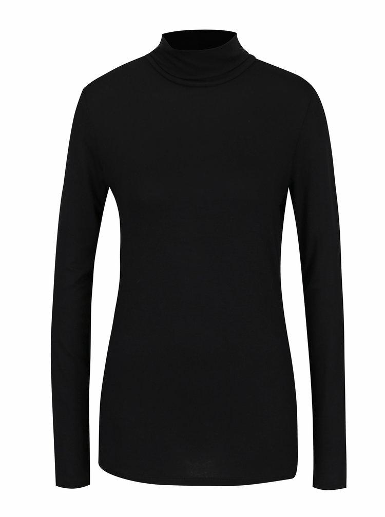 Bluza neagra basic cu guler mediu Dorothy Perkins