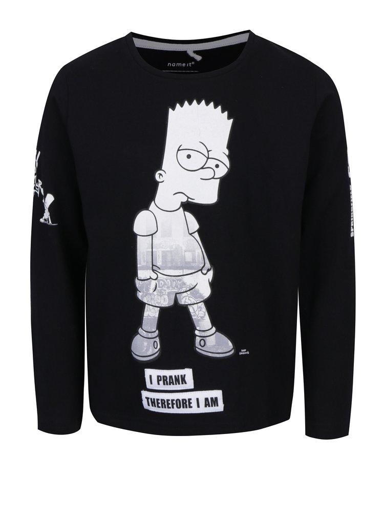 Černé klučičí triko s potiskem name it Simpsons