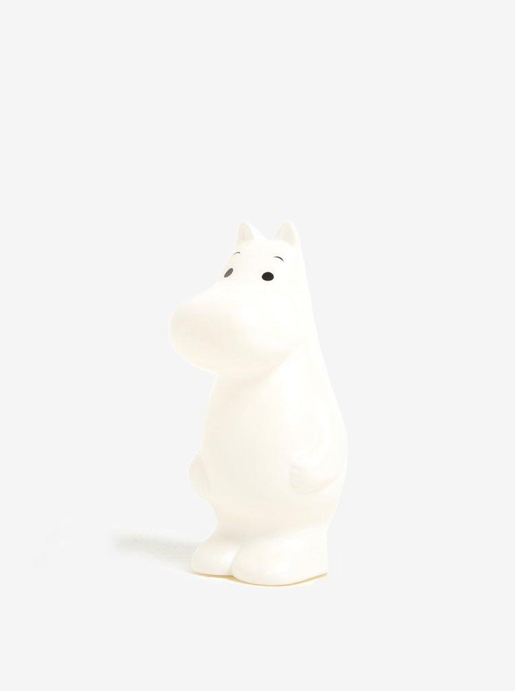 Krémová LED lampička ve tvaru Mumínka Disaster Moomin