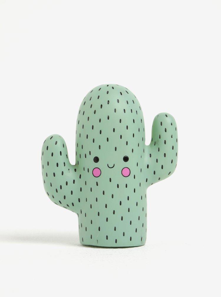 Zelená malá LED lampa ve tvaru kaktusu Disaster Cactus