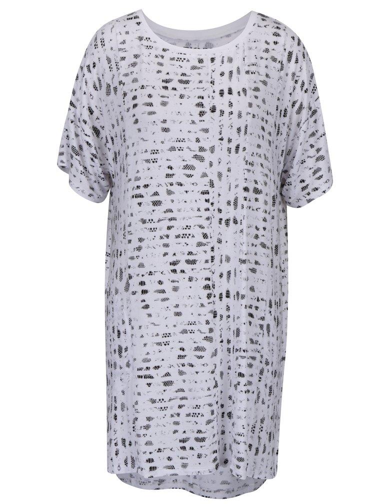 Camasa de noapte alba cu motiv sarpe neregulat DKNY