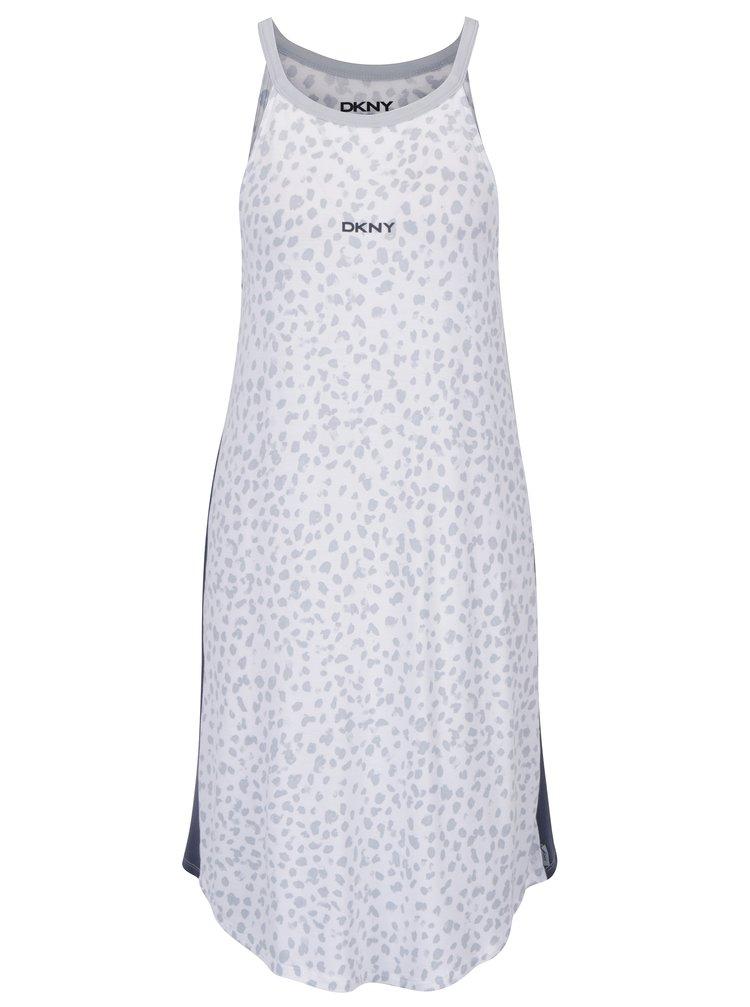 Šedo-krémová noční košile s gepardím vzorem DKNY