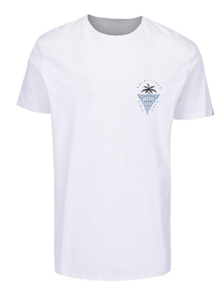 Tricou modern fit alb cu print pentru barbati  Quiksilver Sust East Palm Break