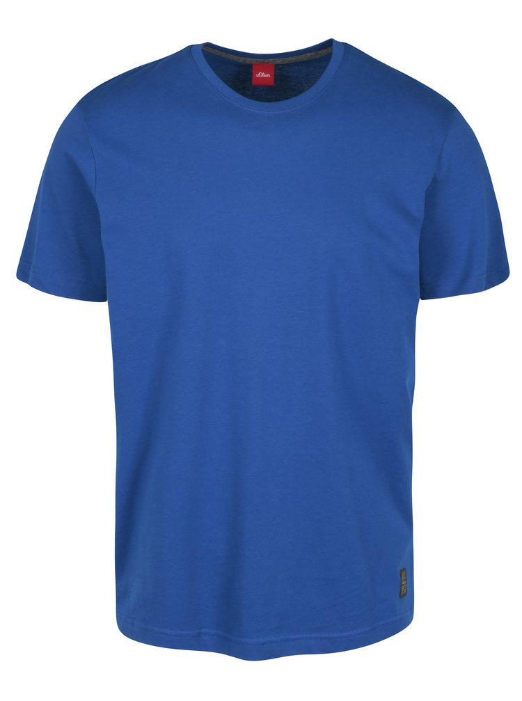 Tricou regular fit albastru cu logo cusut pentru barbati  s.Oliver
