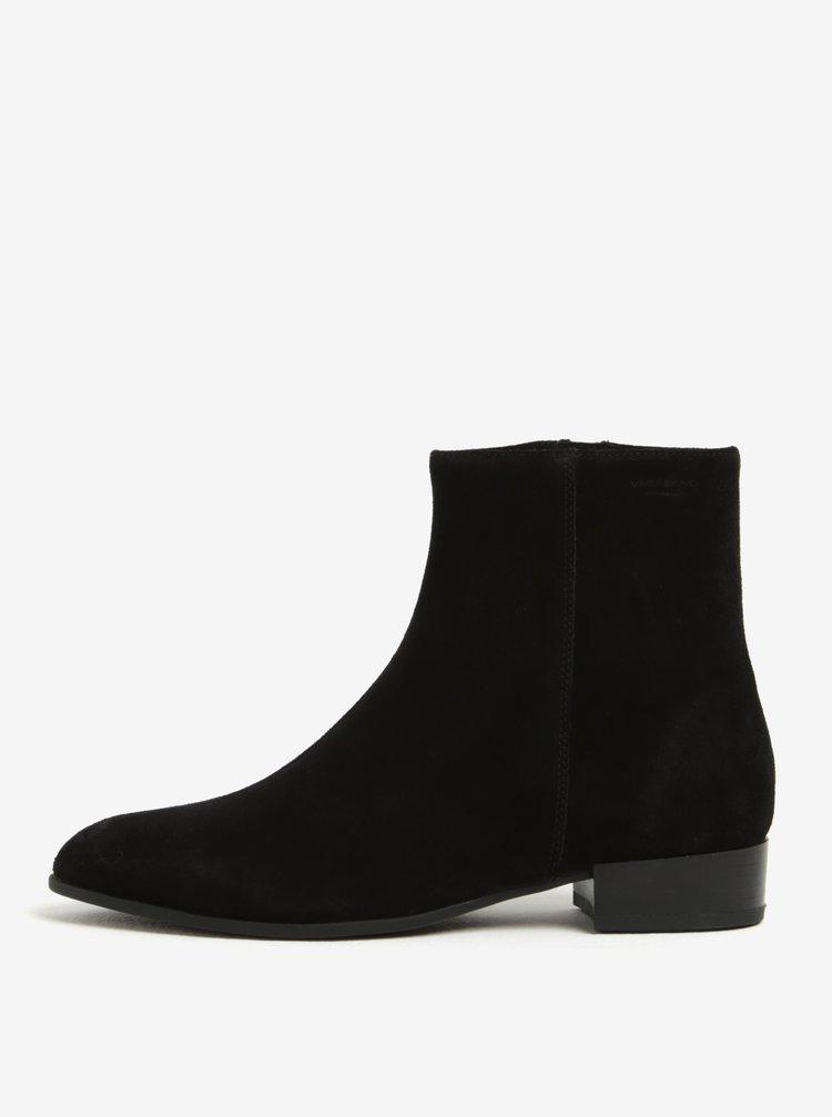 Černé dámské semišové kotníkové boty Vagabond Gigi