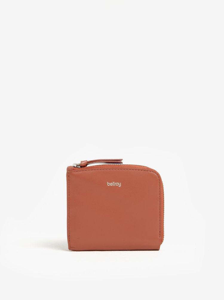 Růžová dámská kožená peněženka Bellroy Pocket mini