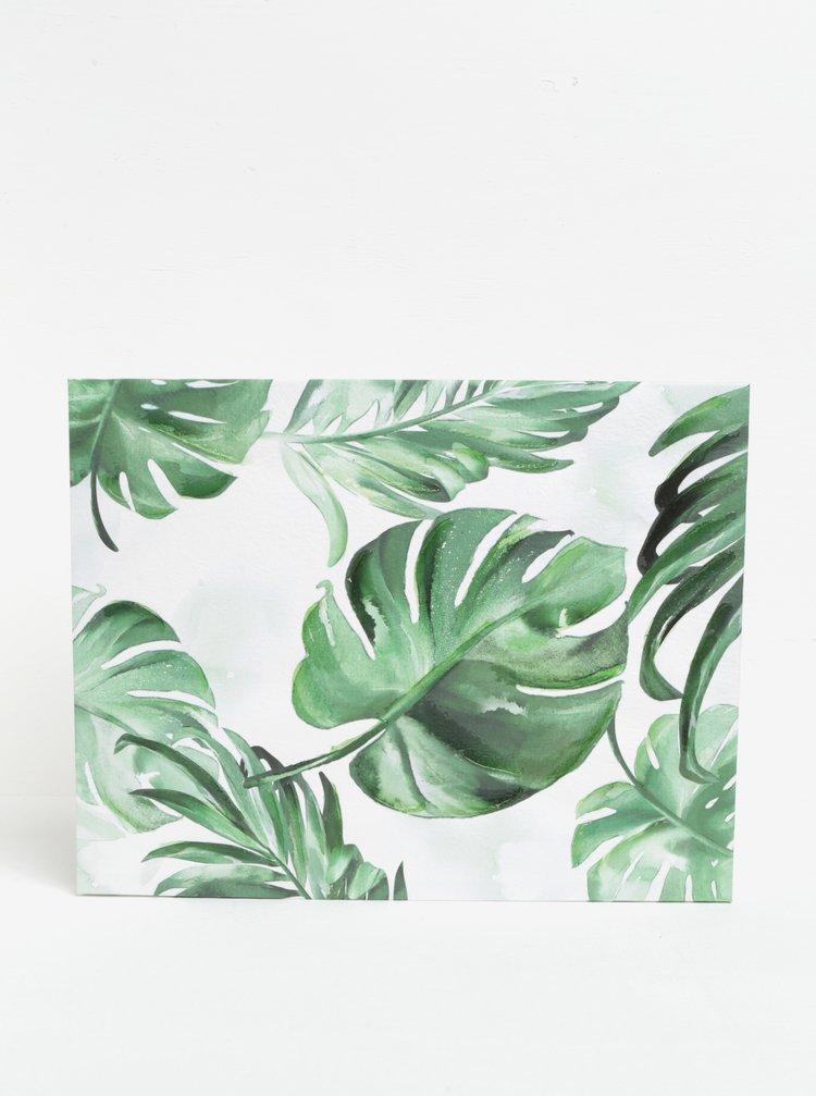 Tablou verde&crem cu frunze SIFCON