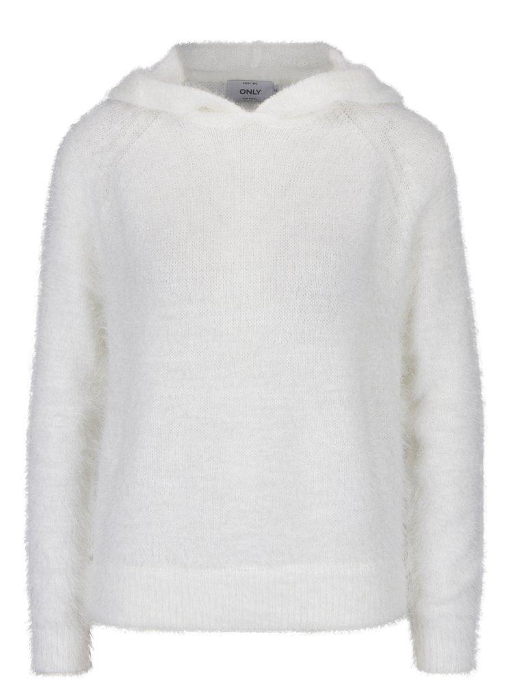 Krémový svetr s kapucí ONLY Gaia