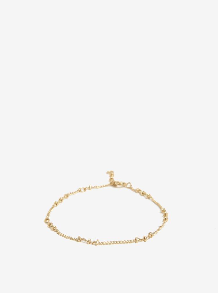 Náramek ve zlaté barvě VILA Efj Knot Chain
