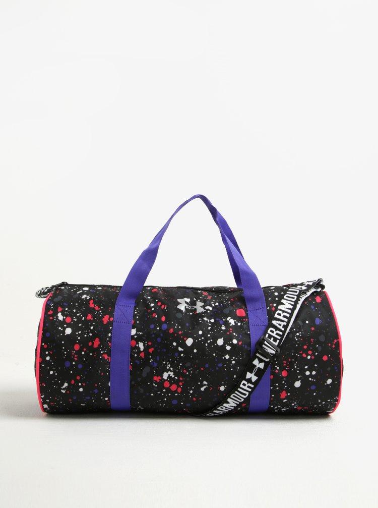 Fialovo-černá dámská sportovní voděodolná taška Under Armour