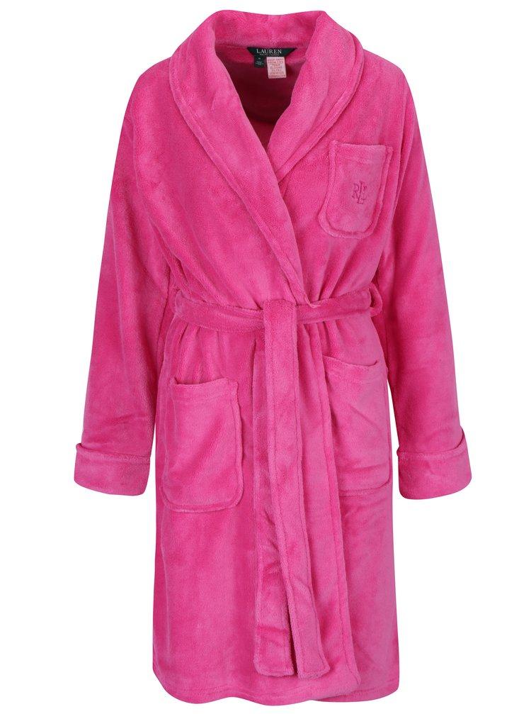 Růžový župan Lauren Ralph Lauren So Soft Robes