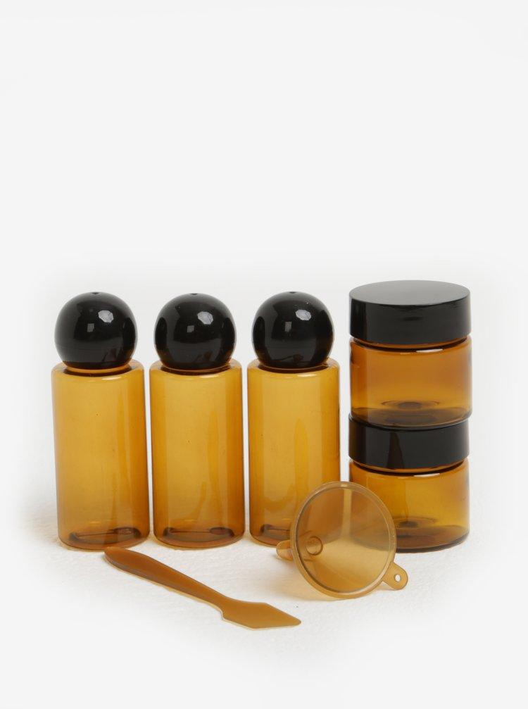 Set de recipiente de calatorie  pentru cosmetice - Kikkerland
