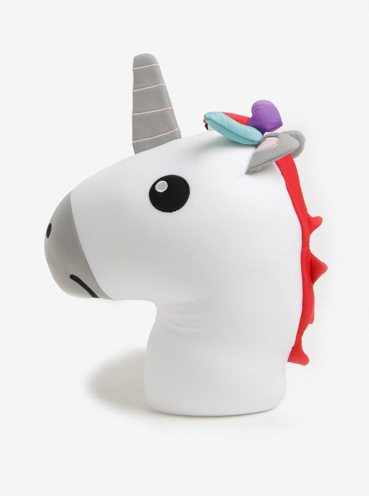 Perna de calatorie reversibila in forma de unicorn si curcubeu - Kikkerland